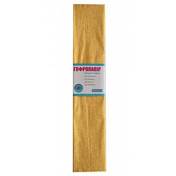 Бумага гофрированная перламутровая кремовая 20% (50см*200см) (705415)