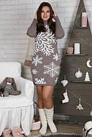 Сукня-туніка Сніжинка беж+білий