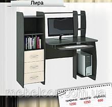 """Компьютерный стол с ящиками и полками """"Лира"""""""