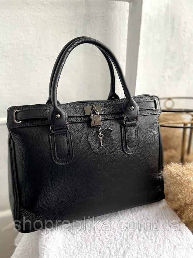 Сумка кожаная женская Италия Genuine Leather Большая женская сумка шоппер