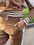 Жіночий спортивний в'язаний брендовий костюм, (Туреччина); Розміри:універсальний (44-46-48);3 кольори на фото., фото 3