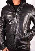 Куртки мужские  Зима Фабричный Китай  Кожзам на мех, фото 1