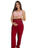 670210 Утеплені спортивні штани-джоггеры для вагітних з кишенями Бордо, фото 1