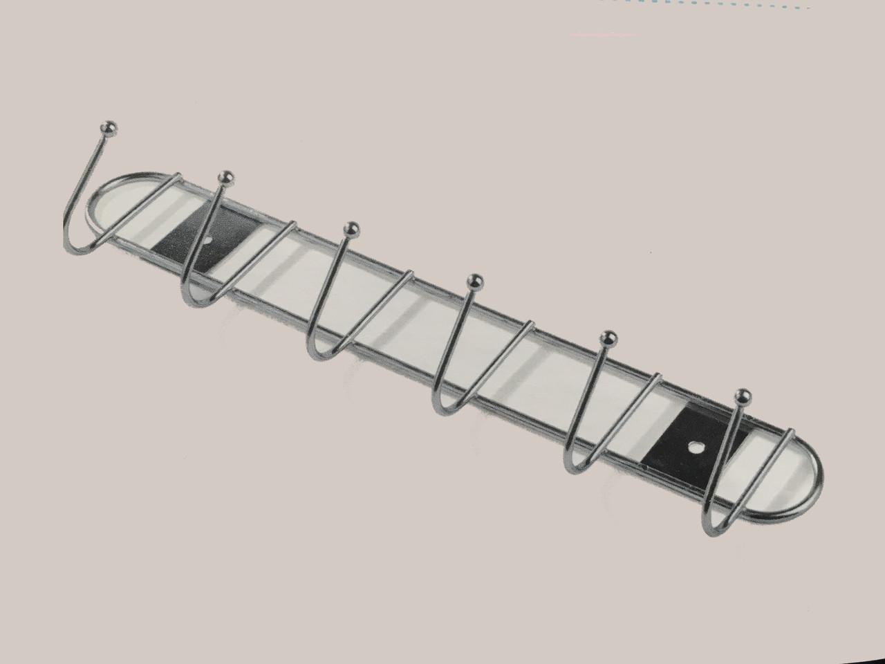 Вешалка металическая  6 гачков 28х7х4