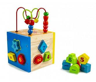 """Дерев'яна іграшка-сортер """"Цифри+лабіринт"""""""
