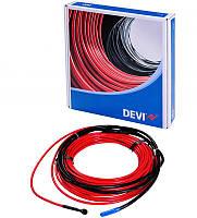 Нагревательный кабель двужильный со сплошным экраном 7.3 м ( 0.9 м2), электрический теплый пол DEVIflex 18T