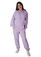 В-999670211 Утепленный cпортивный костюм для беременных и кормящих мам с секретом для кормления Фиолетовый