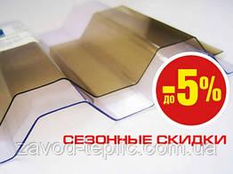 Монолітний Полікарбонат Шиферний Гнутий 0.8 мм