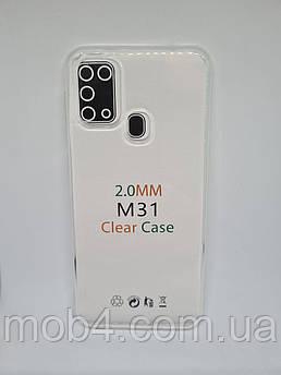 Прозорий силіконовий чохол 2 мм. для Samsung Galaxy M31