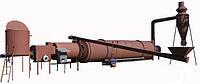 Сушилка для сушки тырсы биомассы для производства топливных брикетов производительностью 1000кг/час