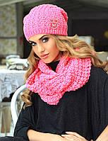 Модная красивая шапка + шарф-снуд от Kamea - Erika