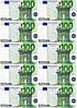 "Картинка вафельная А4 ""100 евро"" 10 шт."