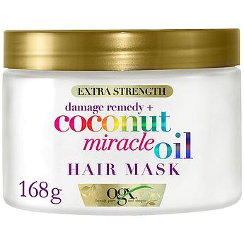 Восстанавливающая маска с кокосовым маслом OGX Extra Strength Coconut Miracle Oil Hair Mask 168 г