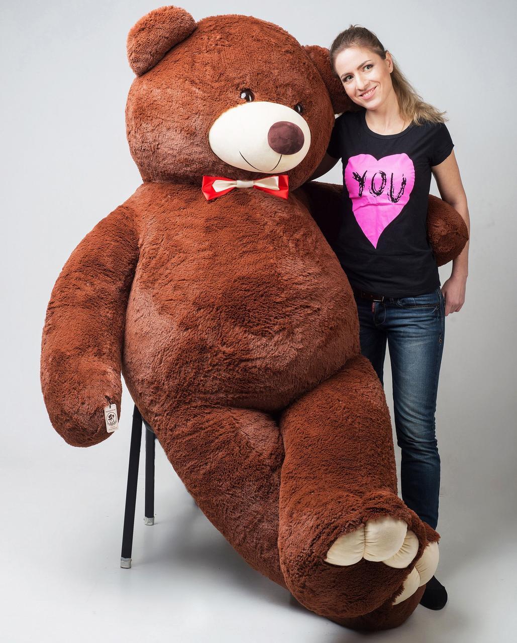 Плюшевий ведмедик Mister Medved Бурий 2 м 50 см