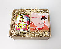 """Подарок блондинке: носочки настоящей блондинки и печенье с предсказаниями  """"Самой лучшей"""" (на укр), фото 1"""