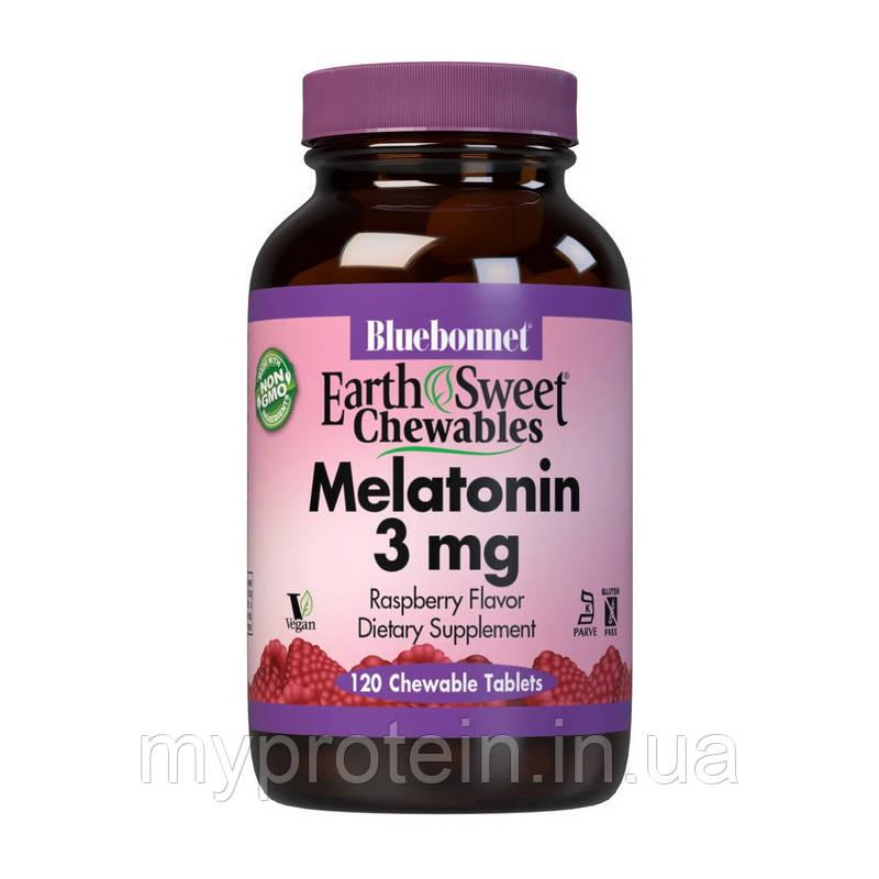 Bluebonnet Nutrition   Мелатонин Melatonin 3 mg  (120 chew tab)  raspberry