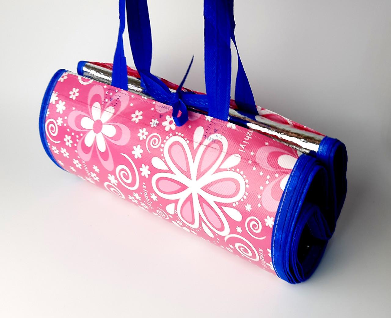 Пляжная подстилка-сумка, коврик для пляжа, покрывало для пикника 145*165 СМ