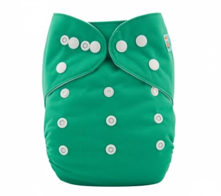 Подгузник детский многоразовый с вкладышем однотонный зеленый Сomfort Berni Kids (3-15 кг)