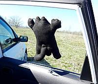 Кот Саймон на присосках черный - Игрушка в машину - Сувенир в машину Кот Саймон - Подарок автомобилисту, фото 1