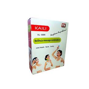 Ручной массажер для головы, лица, тела с насадками KAILI KL- 5886, фото 2
