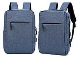 Рюкзак городской JinDian с USB, фото 4