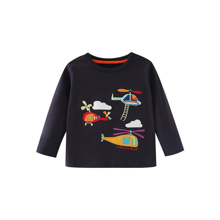 Лонгслив для хлопчика з малюнком вертоліт синій Тһгее helicopters Berni Kids (100)