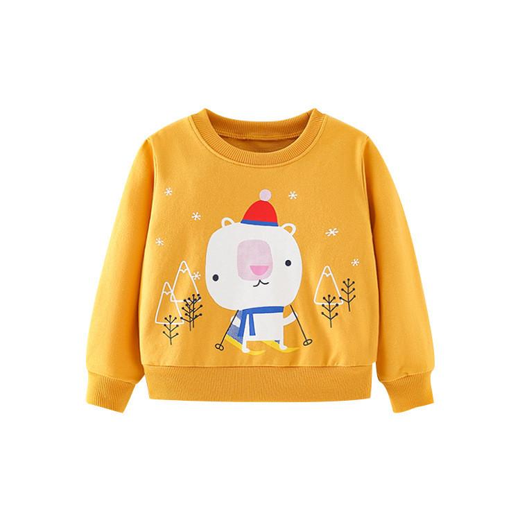 Світшот дитячий з малюнком ведмідь жовтий Skier Berni Kids (100)