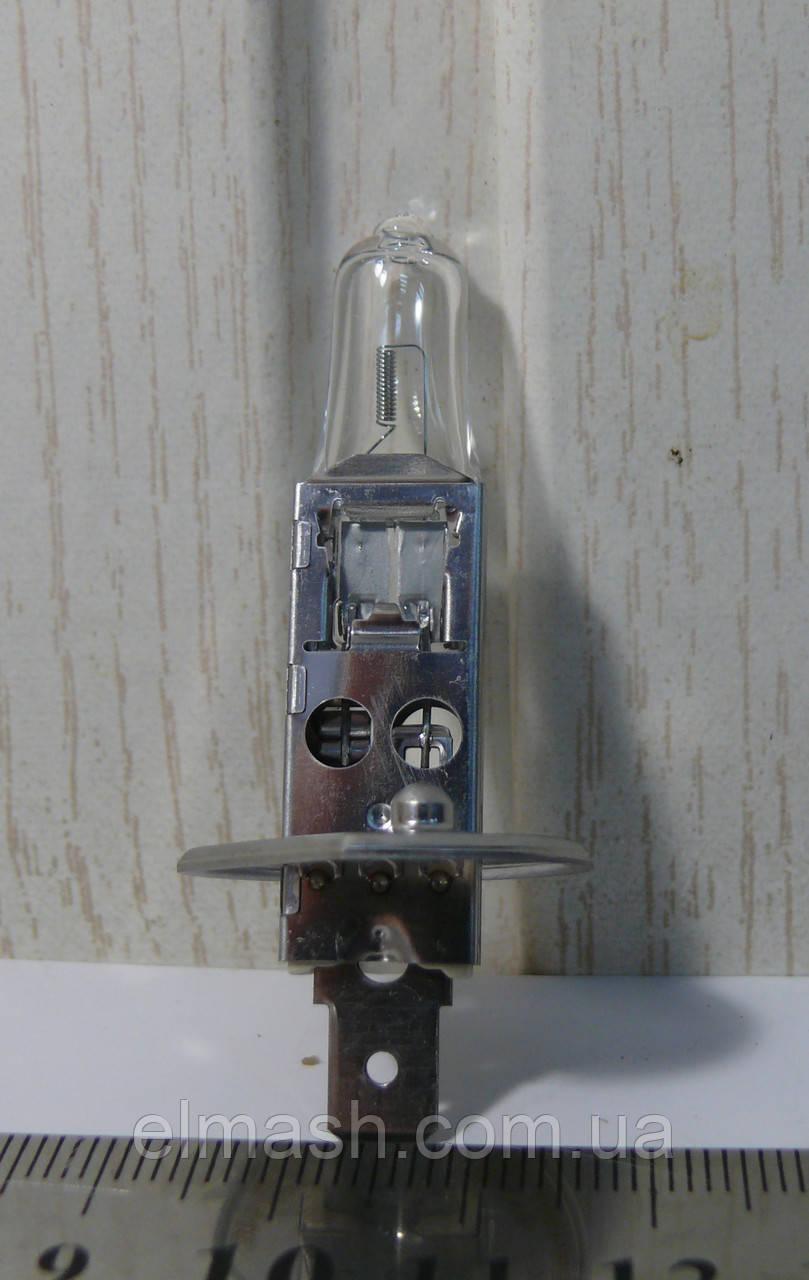 Лампа фарная АКГ 12-55-2 ГАЗ галоген. H1 Р14.5s (пр-во Брест)