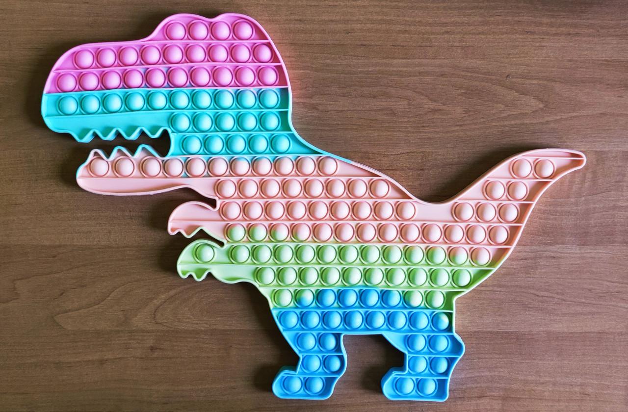 Pop It игрушка антистресс,Большой Динозавр 43 см пупырка, поп ит, сенсорная игрушка,