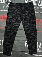 """Джинсы мужские с манжетами хаки камуфляж на байке, размеры 32-42 """"RESERVED MAN"""" недорого от прямого поставщика"""
