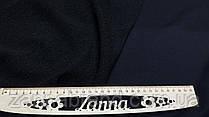 Трикотажна тканина трехнитка петля чорного кольору (Туреччина)