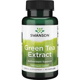 Green Tea Extract 500 мг Swanson 60 капсул