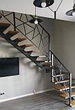 """Металеві перила на сходи в сучасному стилі """"лофт"""", фото 3"""