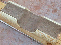 Міжвінцевий утеплювач для дерев'яного будинку в стрічці матеріал Льон шир.25 см довжина 25 м-Упаковка - 100 м, фото 1