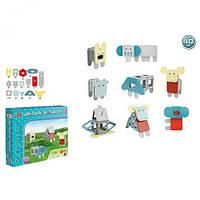 """98957 [2468] Конструктор магнитный 2468 (24/2) """"Play Smart"""", """"Животные"""", 40 деталей, в коробке [Коробка]"""