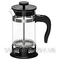 Прес/заварник для чаю, скло/нержавіюча сталь 0,4 л