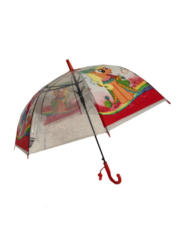 Детский зонт-трость Mario Пинки пай с красной ручкой Красный (TF5-3)