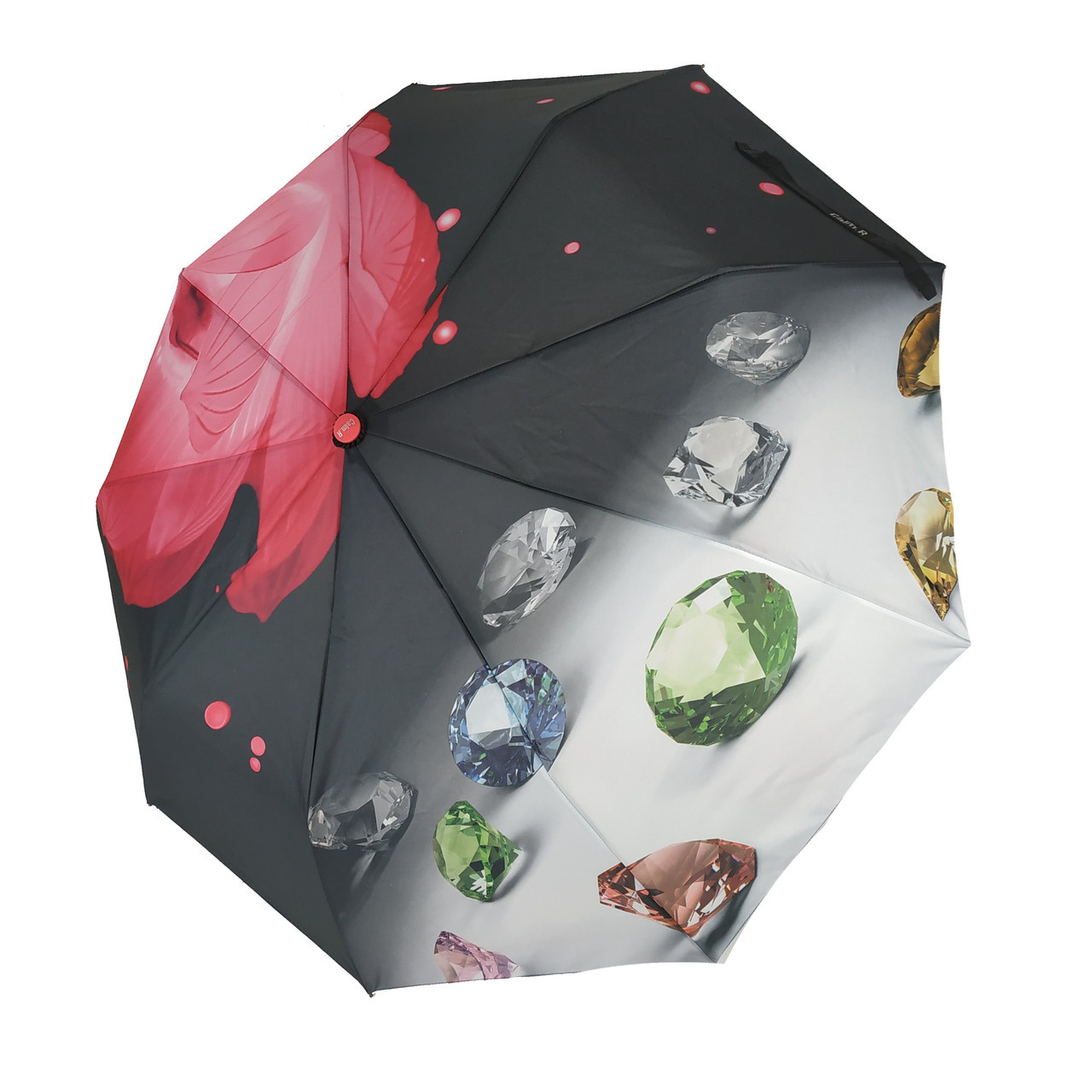 Жіночий напівавтомат парасолька Calm Rain модель Brilliant Рожевий (hub_125-2)