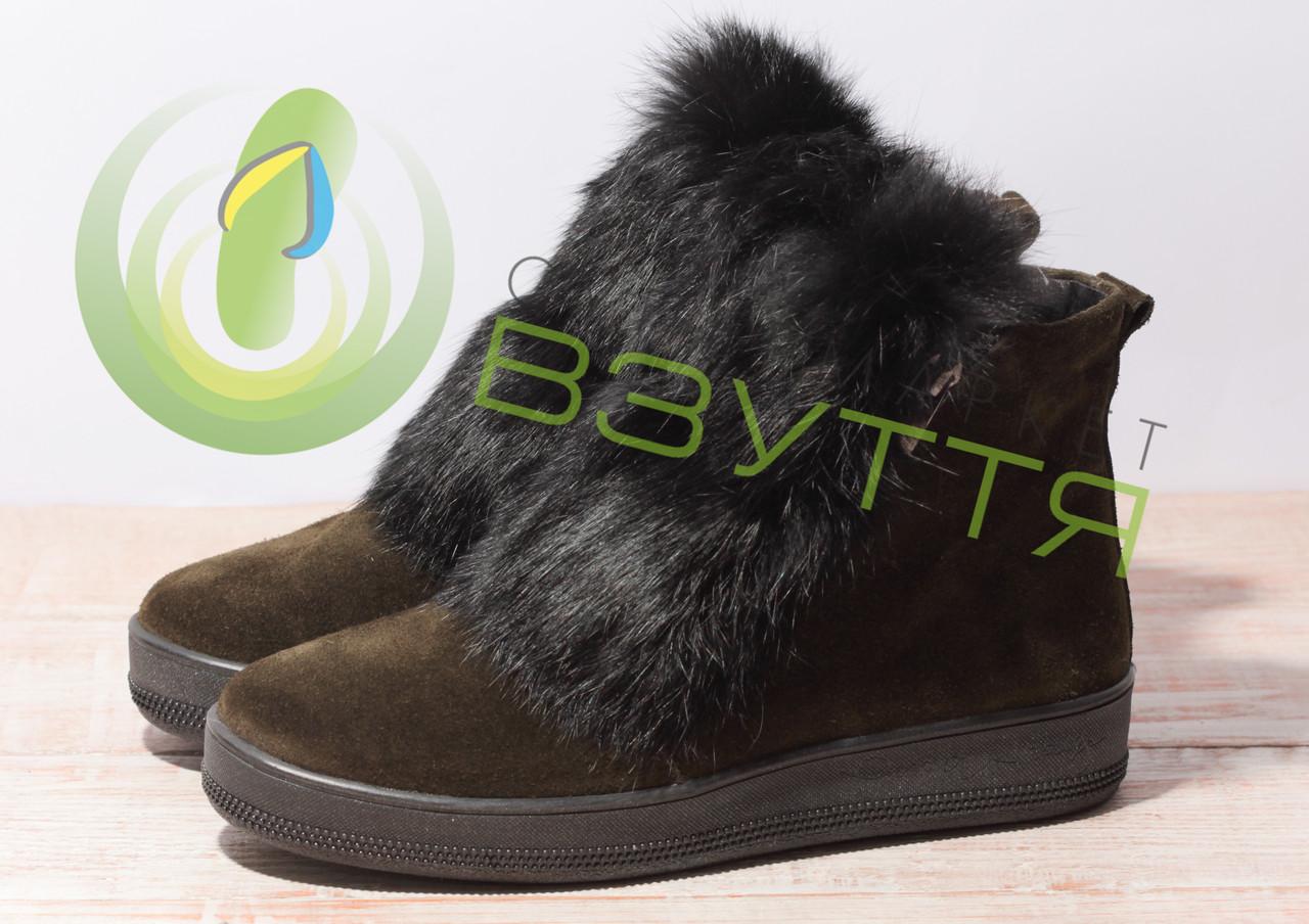 Жіночі замшеві зимові черевики арт.24841 розміри 36,38,40