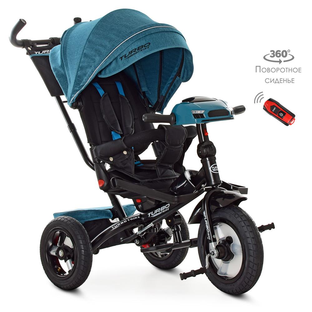Велосипед триколісний TURBOTRIKE M 4060HA-21T Блакитний