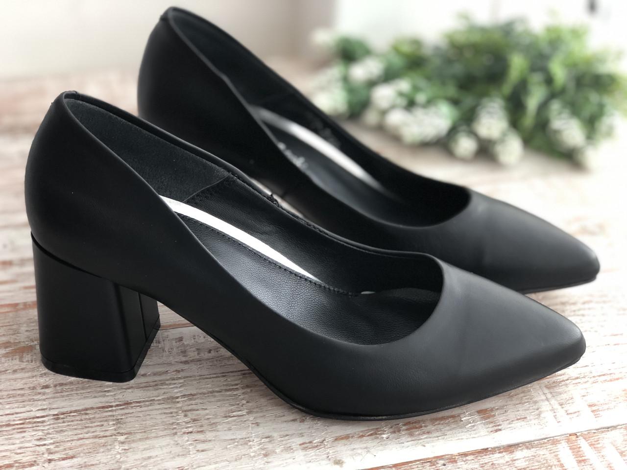 Кожаные Женские туфли 2722 ч/к размеры 36-40