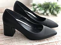 Кожаные Женские туфли 2722 ч/к размеры 36-40, фото 1