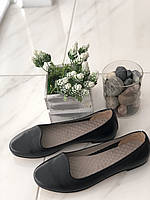 Шкіряні Жіночі балетки чорні 404 ч/к розміри 36-41, фото 1