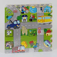 """Коврик-пазл EVA для малышей С 36568 """"Город"""", 4 шт в упаковке, 60х60 см"""