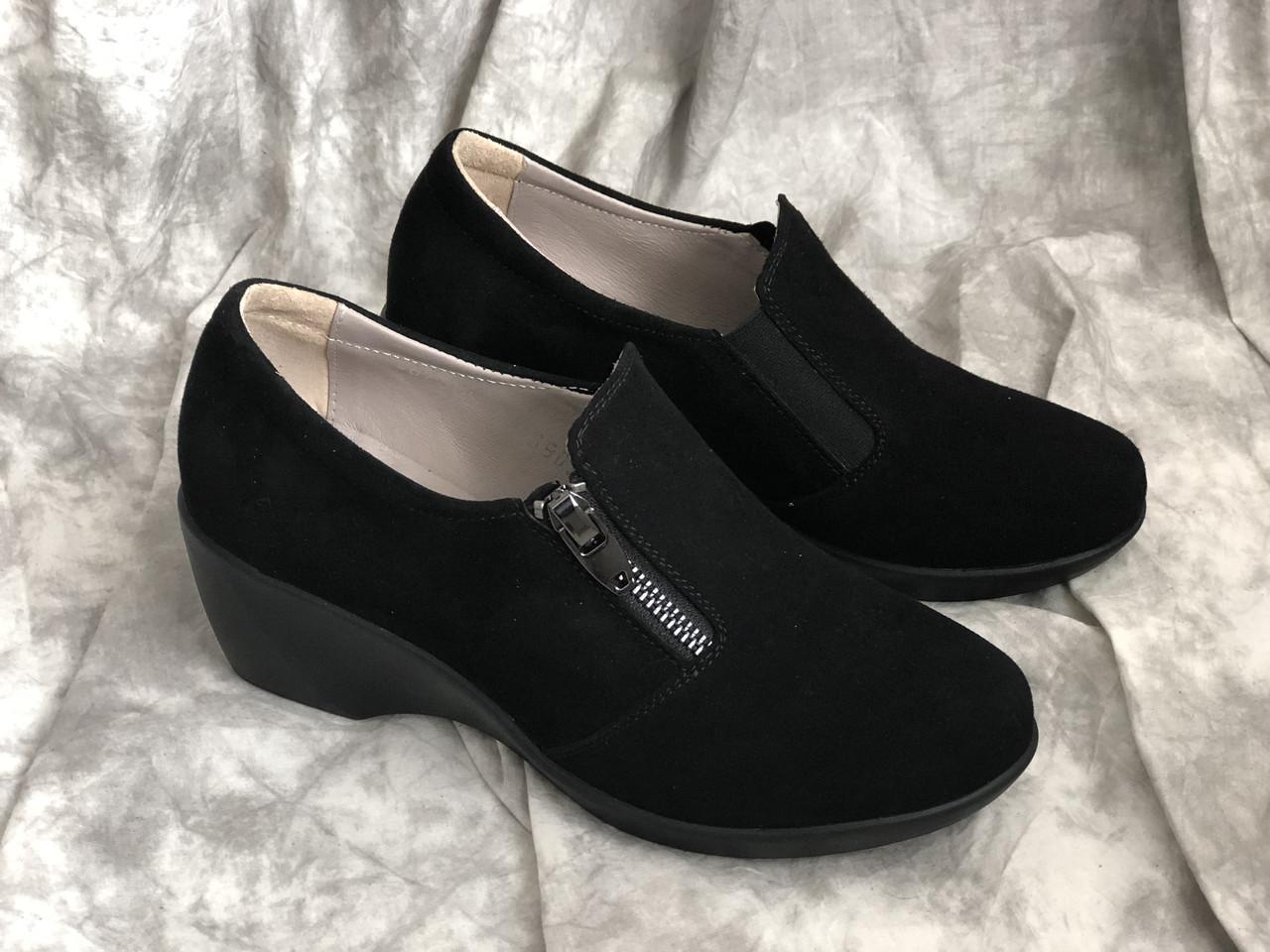Шкіряні жіночі черевики 868 ч/з розміри 36-40