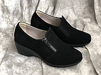Шкіряні жіночі черевики 868 ч/з розміри 36-40, фото 1