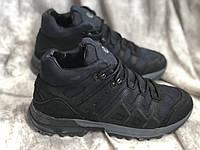 Кожаные мужские кроссовки зима E 5 син размеры 40,41,42,43,45, фото 1