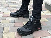 Шкіряні чоловічі кросівки зима Exstrem 1302 чер розміри 40,41,42,43,44,45, фото 1