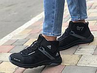 Шкіряні чоловічі кросівки зима А-7 чер Mans spot розміри 40-45, фото 1