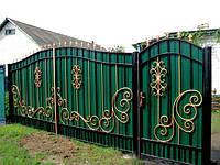 Ворота с профнастиа в Кременчуге